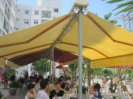 mái xếp mái hiên mái che nhà hàng