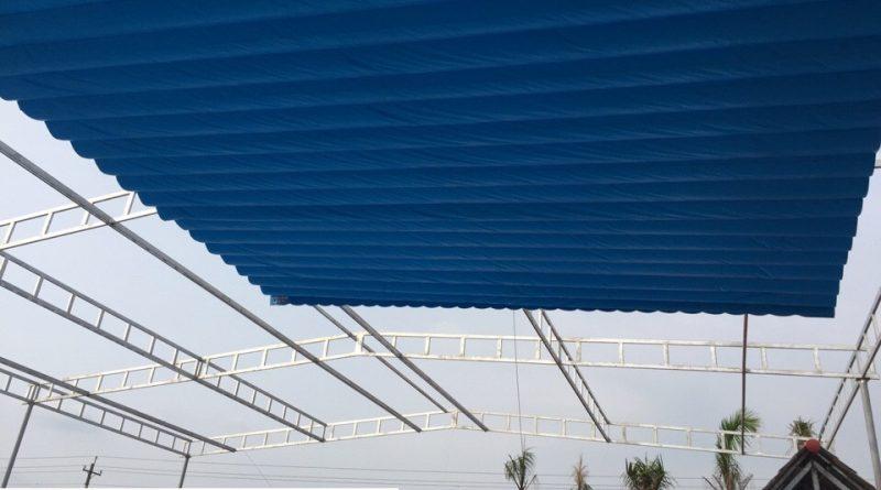 Lắp đặt mái che di động, mái bạt xếp, mái bạt lùa kéo sóng tại huyện bầu bàng