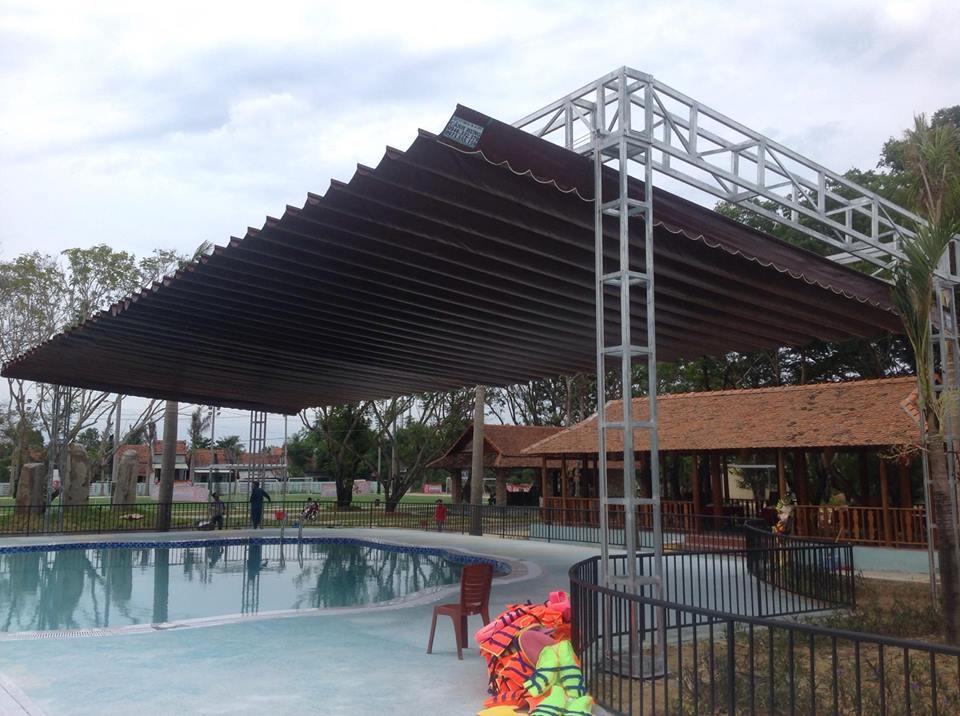 Lắp đặt mái che di động, mái bạt xếp, mái bạt lùa kéo sóng tại TP huế thừa thiên huế