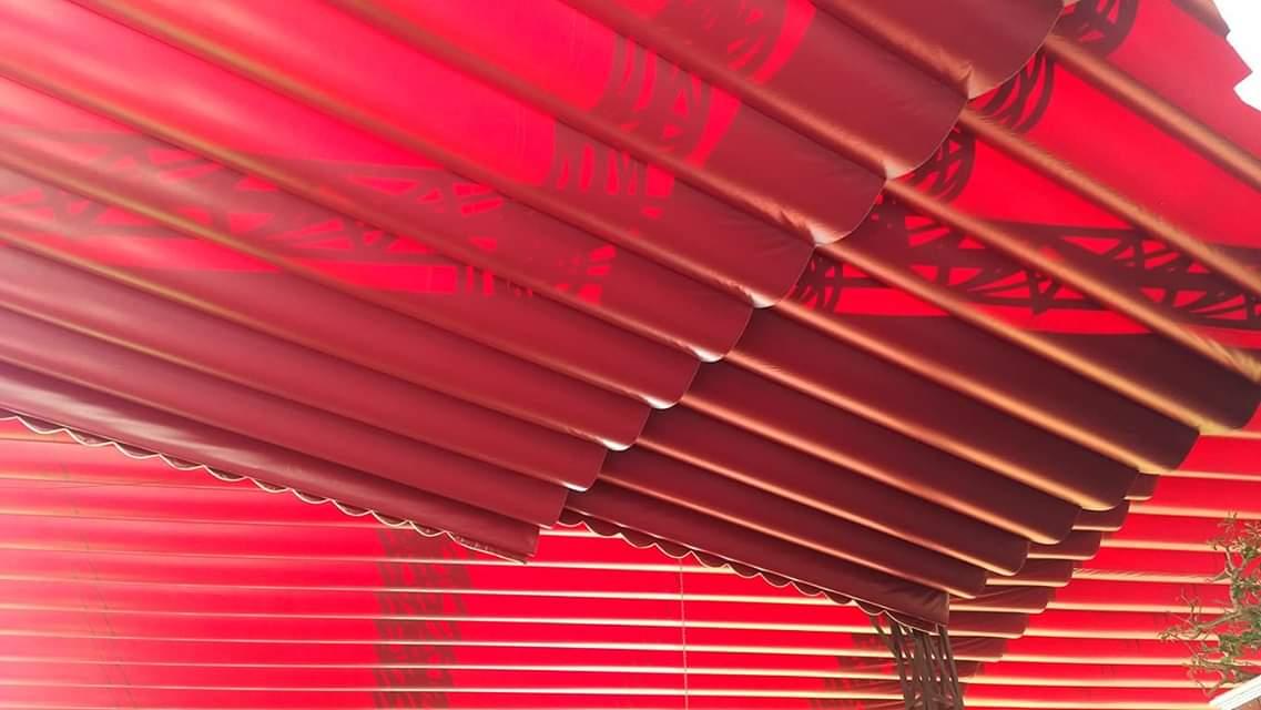 Lắp đặt mái che di động, mái bạt xếp, mái bạt lùa kéo sóng tại TP bảo lộc lâm đồng.