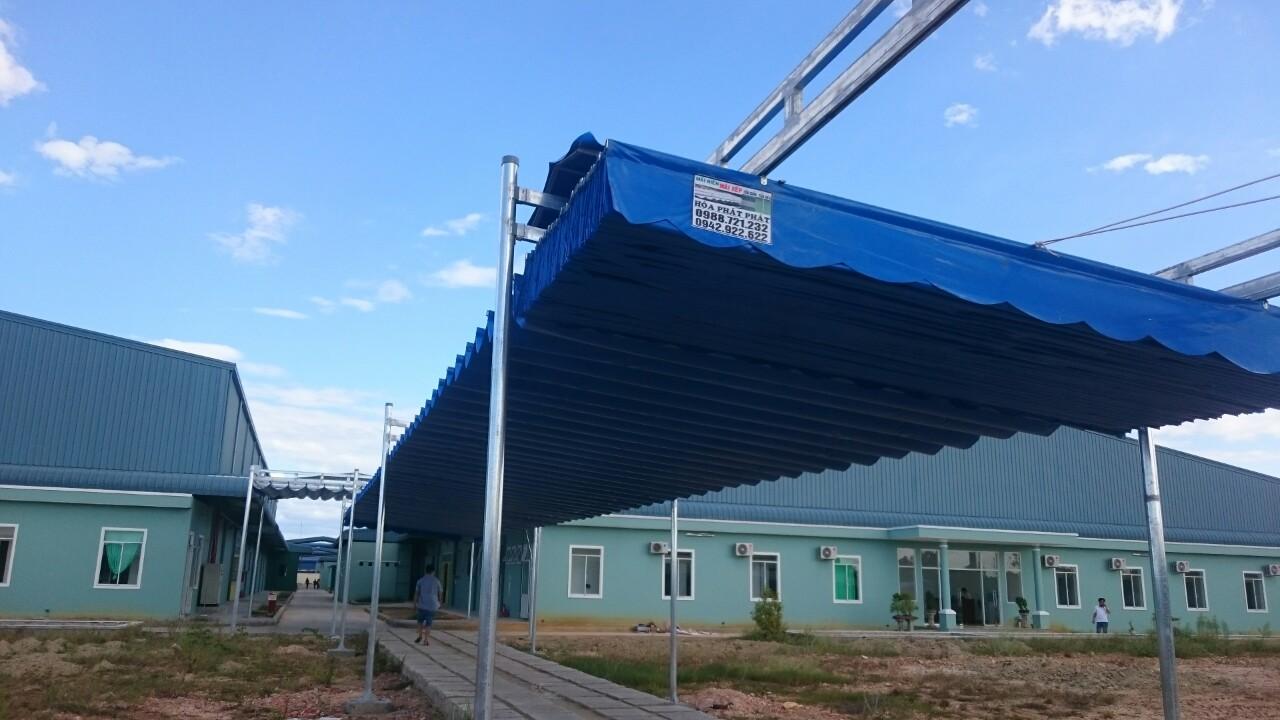 Lắp đặt mái che di động, mái bạt xếp, mái bạt lùa kéo sóng tại TP phủ lý hà nam