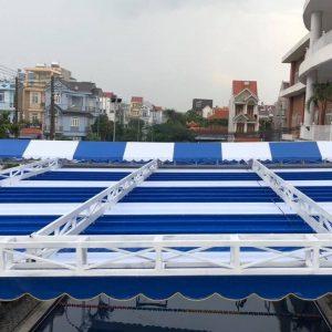 Lắp đặt mái che di động, mái bạt xếp, mái bạt lùa kéo sóng tại TP sơn la