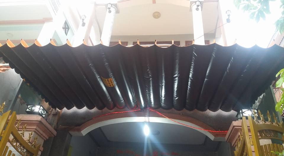 Lắp đặt mái che di động, mái bạt xếp, mái bạt lùa kéo sóng tại TP trà vinh