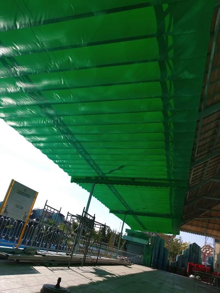 Lắp đặt mái che di động, mái bạt xếp, mái bạt lùa kéo sóng tại TP cao bằng