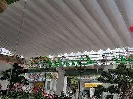 Lắp đặt mái che di động, mái bạt xếp, mái bạt lùa kéo sóng tại TP quảng ngãi