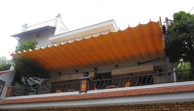 Lắp đặt mái che di động, mái bạt xếp, mái bạt lùa kéo sóng tại TP cẩm phả quảng ninh