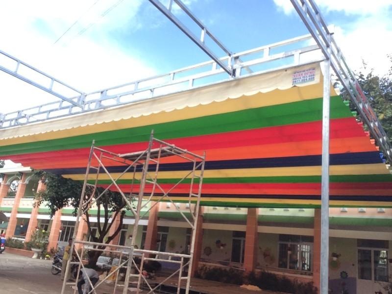 Lắp đặt mái che di động, mái bạt xếp, mái bạt lùa kéo sóng tại TP lạng sơn