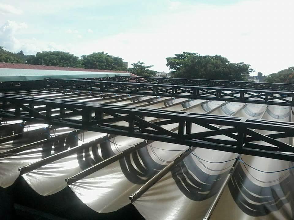 Lắp đặt mái che di động, mái bạt xếp, mái bạt lùa kéo sóng tại TP lào cai
