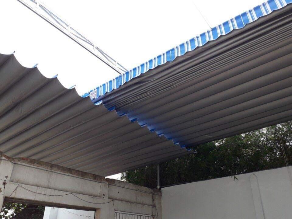 Lắp đặt mái che di động, mái bạt xếp, mái bạt lùa kéo sóng tại TP tây ninh