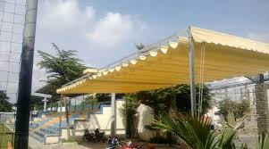 Lắp đặt mái che di động, mái bạt xếp, mái bạt lùa kéo sóng tại TP móng cái quảng ninh