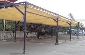 Lắp đặt mái che di động, mái bạt xếp, mái bạt lùa kéo sóng tại TP đồng hới quảng bình