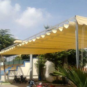 Lắp đặt mái che di động, mái bạt xếp, mái bạt lùa kéo sóng tại TP tuy hòa phú yên