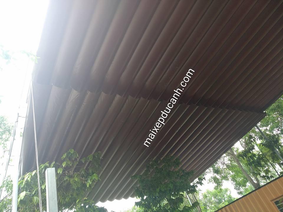 Lắp đặt mái che di động, mái bạt xếp, mái bạt lùa kéo sóng tại TP mỹ tho tiền giang