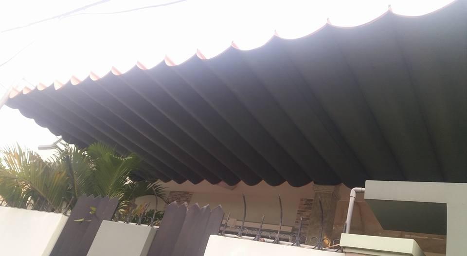 Lắp đặt mái che di động, mái bạt xếp, mái bạt lùa kéo sóng tại TP nam định