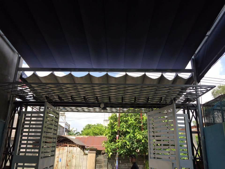 Lắp đặt mái che di động, mái bạt xếp, mái bạt lùa kéo sóng tại TP hà tiên kiên giang