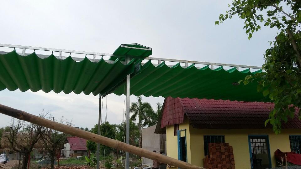 Lắp đặt mái che di động, mái bạt xếp, mái bạt lùa kéo sóng tại TP quy nhơn bình định
