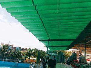 Lắp đặt mái che di động, mái bạt xếp, mái bạt lùa kéo sóng tại huyện xuân lộc