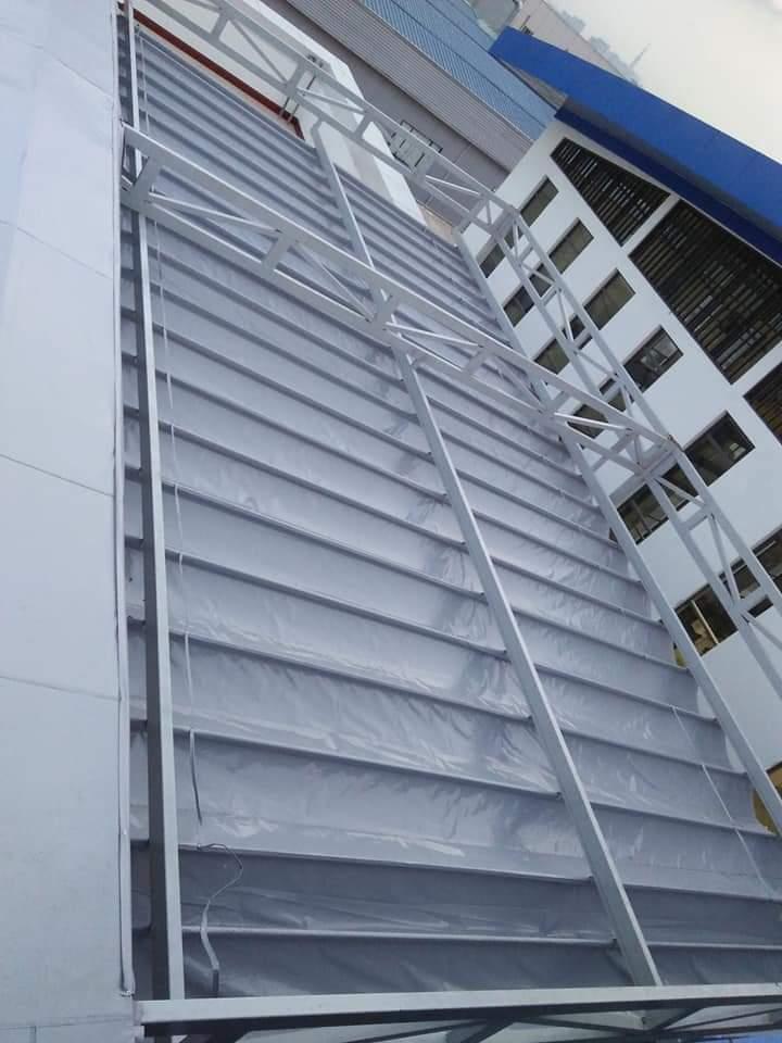 Lắp đặt mái che di động, mái bạt xếp, mái bạt lùa kéo sóng tại TP yên bái