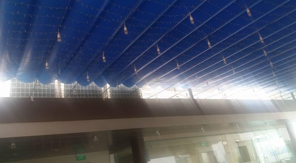 Lắp đặt mái che di động, mái bạt xếp, mái bạt lùa kéo sóng tại quận bình thạnh