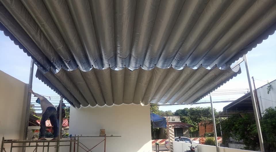 Lắp đặt mái che di động, mái bạt xếp, mái bạt lùa kéo sóng tại quận 5