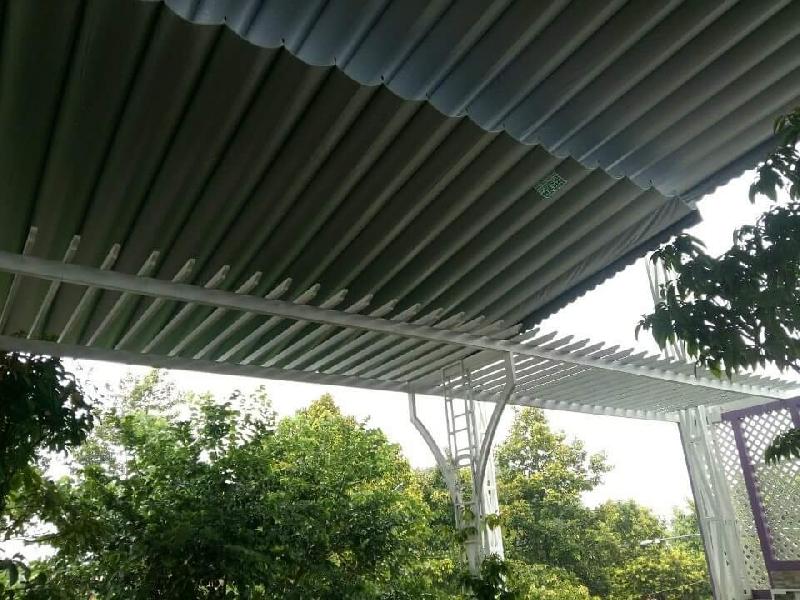 Lắp đặt mái che di động, mái bạt xếp, mái bạt lùa kéo sóng tại quận 8