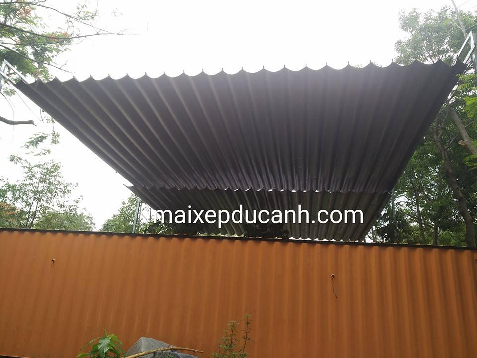 Lắp đặt mái che di động, mái bạt xếp, mái bạt lùa kéo sóng tại quận 6