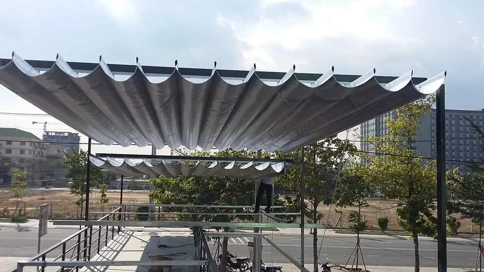 Lắp đặt mái che di động, mái bạt xếp, mái bạt lùa kéo sóng tại huyện định quán