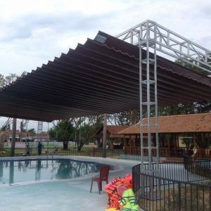 Lắp đặt mái che di động, mái bạt xếp, mái bạt lùa kéo sóng tại huyện nhà bè