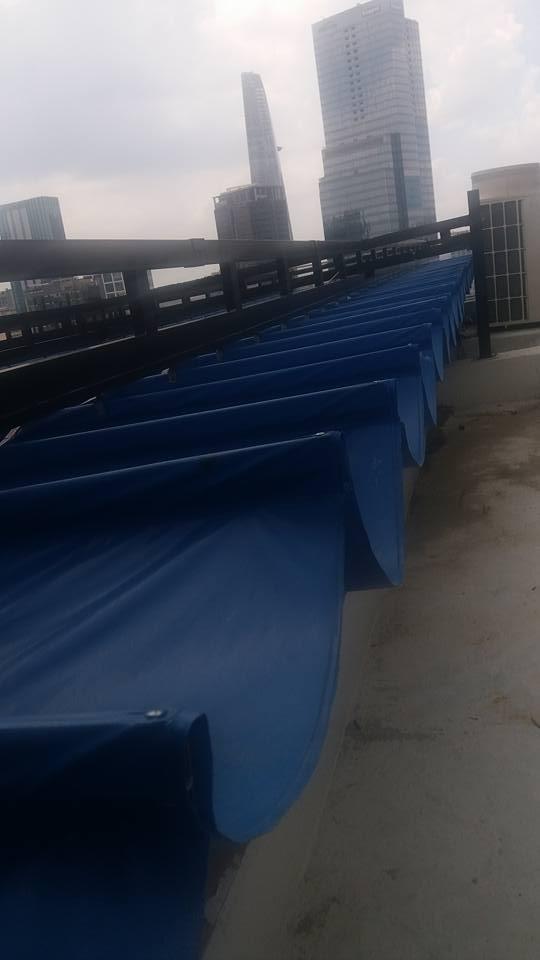 Lắp đặt mái che di động, mái bạt xếp, mái bạt lùa kéo sóng tại huyện cần giờ